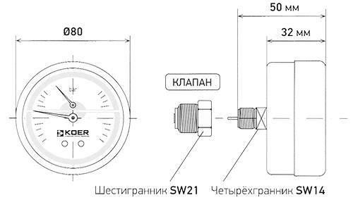 Термоманометр 812A Koer